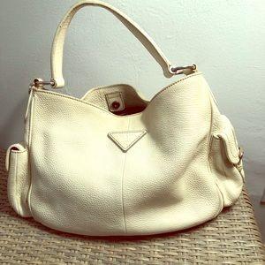 Daino Side Pocket Hobo Leather Shoulder Bag